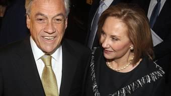 Chiles Präsident mit seiner Frau in London