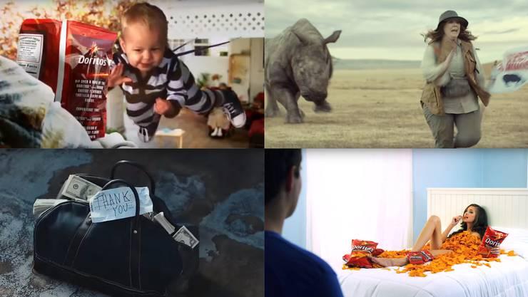 Anlässlich des Super Bowls legen sich die Werbemacher jeweils mächtig ins Zeug.