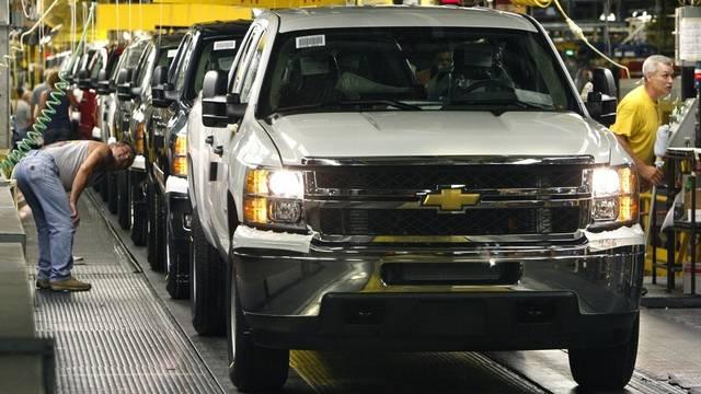 In den Fabrikhallen von General Motors wird auch für China produziert (Archiv)