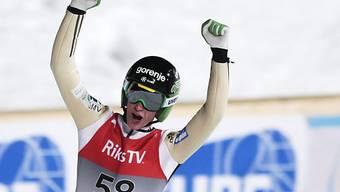 Prevc knackte in Vikersund als erster Springer die 250-m-Marke