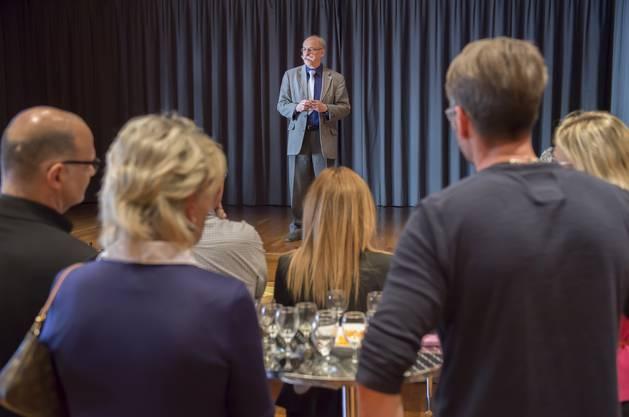 Dankesrede vom wiedergewählten Gemeindepräsident Paul Studer (FDP)