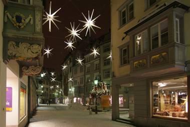 In St.Gallen erleuchten 700 Sterne die Innenstadt (© Margritli)