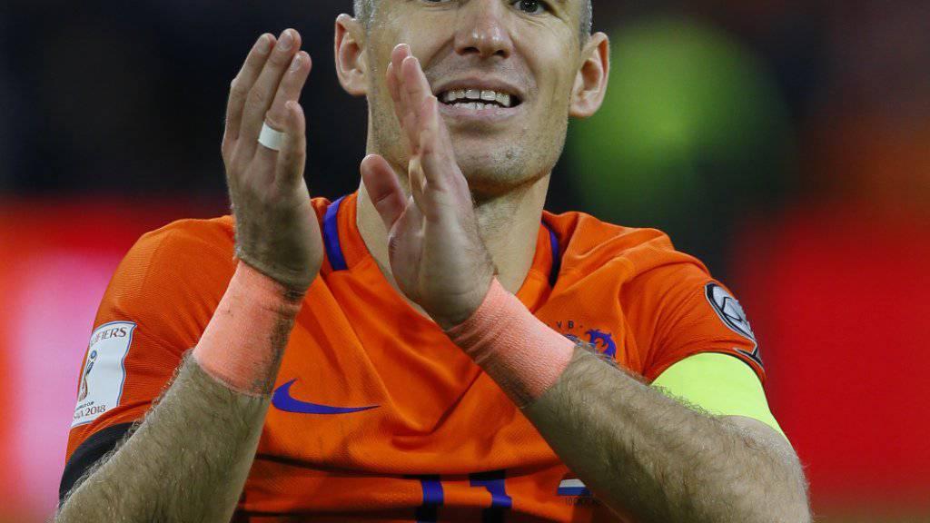 Arjen Robben tritt aus der niederländischen Nationalmannschaft zurück