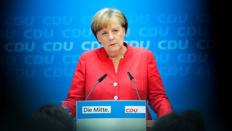 Unter Zugzwang: Kanzlerin Angela Merkel (CDU). AP/KEY