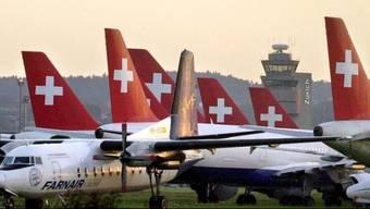 Grounding von Swissair-Maschinen im Oktober 2001