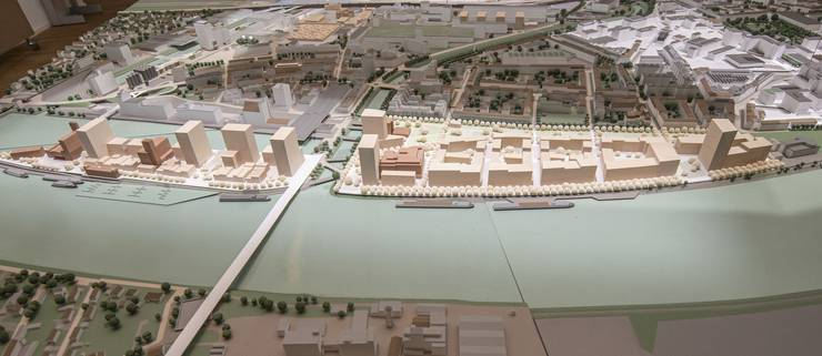 Modell neuer Stadtteil Klybeck
