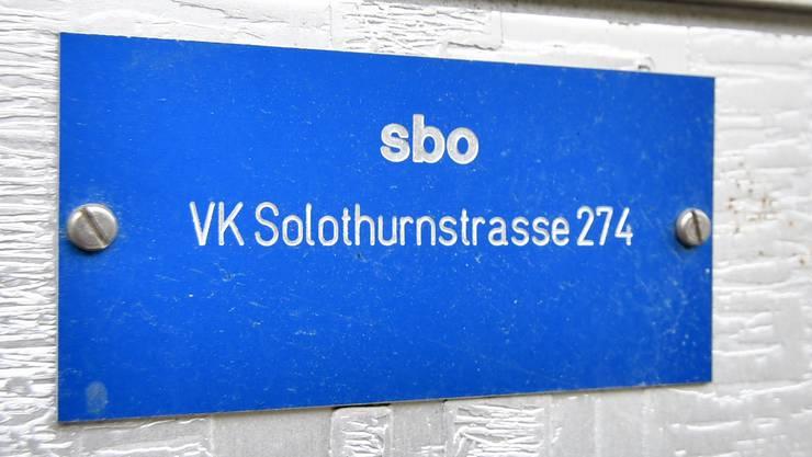 sbo aen Verteilkasten an der Solothurnerstrasse in Olten