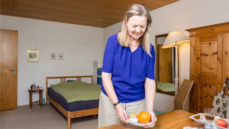 Ein Zimmer mit Bad bietet Renate Maag in ihrem Daheim an.