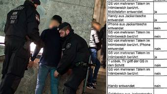 Der Polizeibericht (rechts) zeigt den Verlauf der Schreckensnacht in Köln.