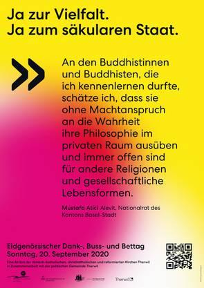 Am Montag werden die Plakate in ganz Therwil angebracht.