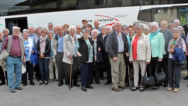 Die Teilnehmer der Attiswiler Seniorenfahrt.
