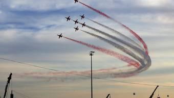 Eine Flugshow war Teil der Feierlichkeiten zur Eroberung Konstantinopels.