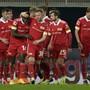 Union Berlin: Eine verschworene Mannschaft freut sich nach dem 1:0