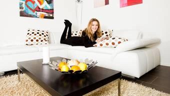 Hier posiert Manuela Frey im Jahr 2013 in ihrem Zuhause in Brugg.