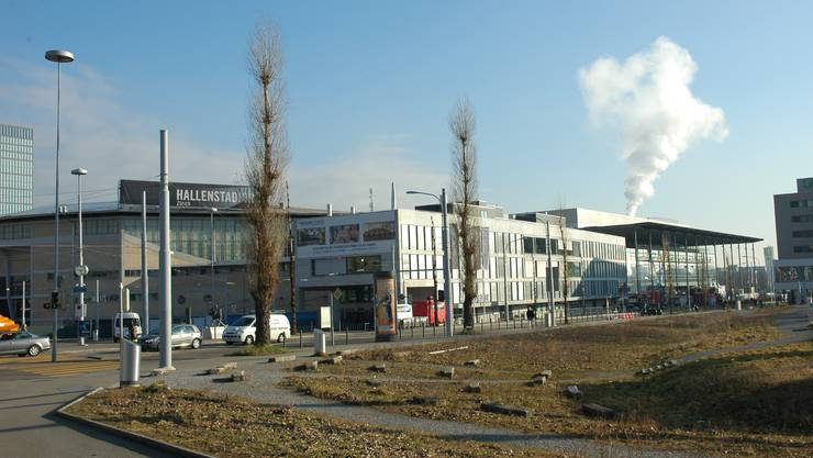 Die Messe Zürich (rechts) und das Hallenstadion sollen gemäss Regierungsrat enger zusammenarbeiten, um ihre Zukunft zu sichern.