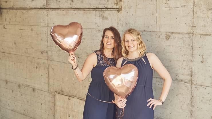 Führen gemeinsam die Aargauer Hochzeitsplanungs-Agentur «Destiny Weddings & Events»: Debora Dietiker und Andrea Bolliger.
