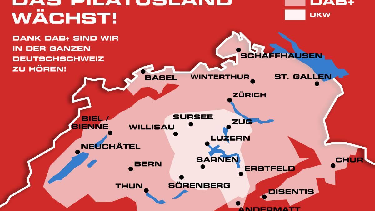 Radio Pilatus in der ganzen Deutschschweiz auf DAB+