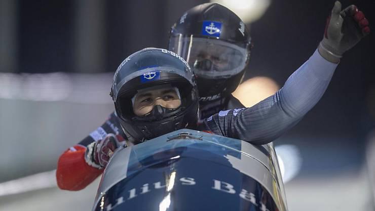 Simon Friedli und Gregory Jones gewannen an der EM im lettischen Sigulda die Silbermedaille