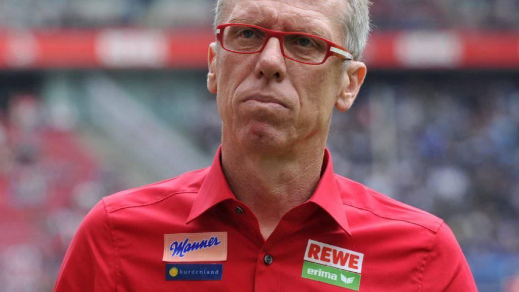 Peter Stöger wurde für die guten Resultate in Köln belohnt