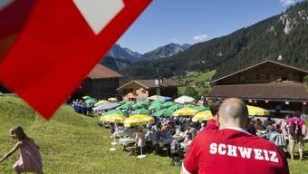 Ein 1. August-Brunch im bündnerischen Schanfigg vor zwei Jahren