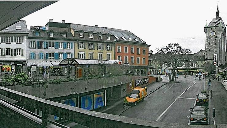 Früher präsentierte sich der Schlossbergplatz wenig attraktiv,  «Blinddarm» wurde die unwirtliche Unterführung genannt.