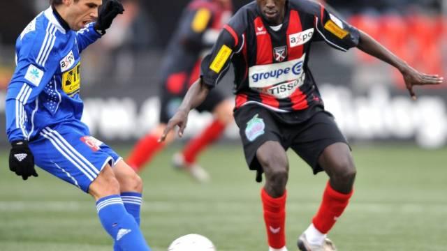 Dem Neuenburger Niasse (r.) gelang eine Doublette gegen Luzern
