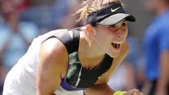 Jubelt sie in der Nacht auf morgen im Halbfinal gleich wieder? Belinda Bencic erfreut sich am US Open einer Traumform