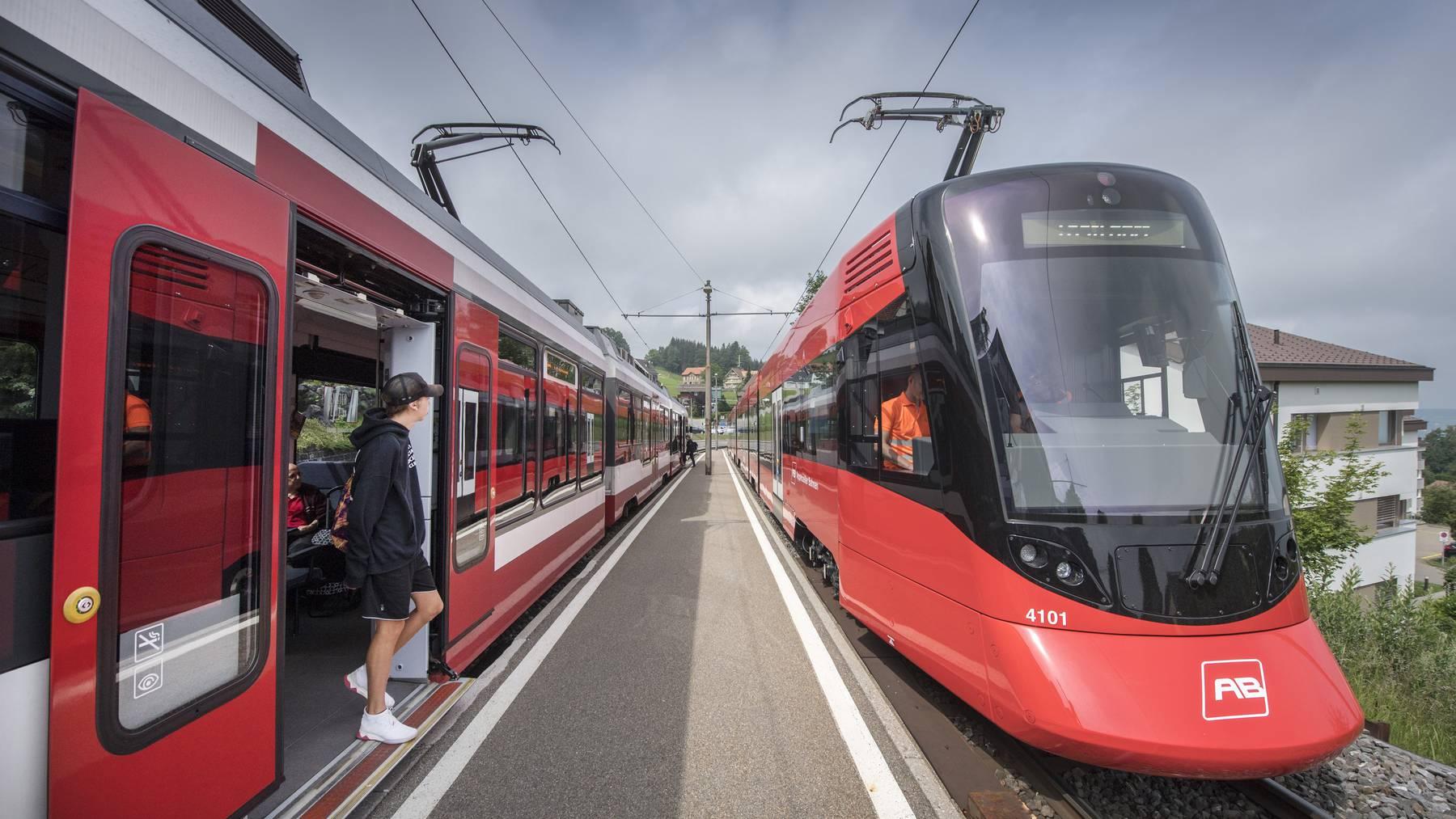 Die Appenzellerbahn fährt neu von Trogen direkt nach Appenzell.