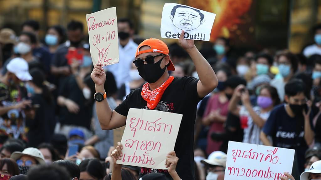 Proteste gegen thailändische Regierung in Bangkok