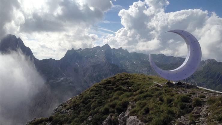 Für Provokation muss man nicht originell sein: Christian Meiers Halbmond auf dem Appenzeller Berg «Freiheit». Christian Meier