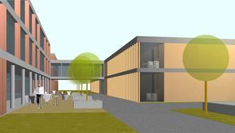 Diese Visualisierung stammt noch aus dem ersten Baugesuch 2014. Viel habe sich beim Bauprojekt des Alterszentrums laut den Verantwortlichen bisher nicht verändert. Es wurden aber Feinjustierungen vorgenommen. (Visualisierung)