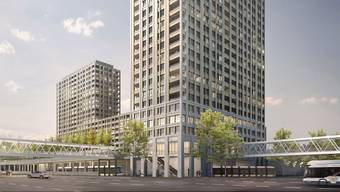 Neben dem Shoppi Tivoli entstehen ein neues Wohnquartier und eine Haltestelle der Limmattalbahn.