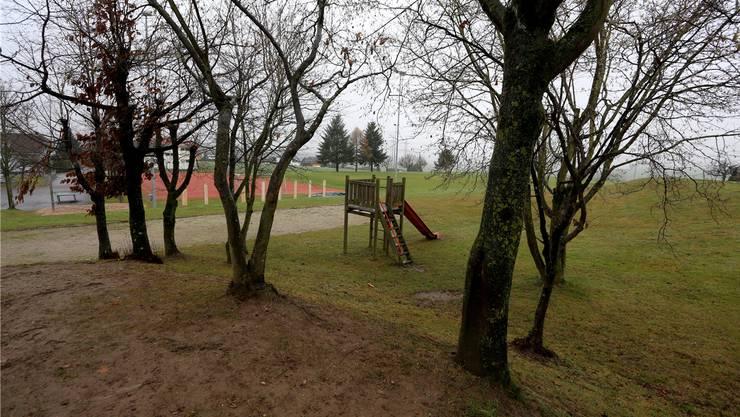 Der aktuelle Spielplatz von Stüsslingen. Neu wird hier eine Spiel- und Begegnungszone entstehen.