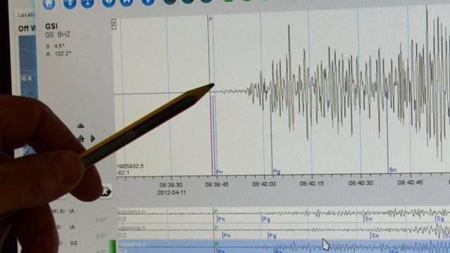 Seismographische Aufzeichnungen (Symbolbild)