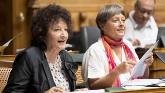 Die Solothurnerin Bea Heim (l.) und die Bernerin Margret Kiener Nellen sitzen beide seit 2003 im Nationalrat.