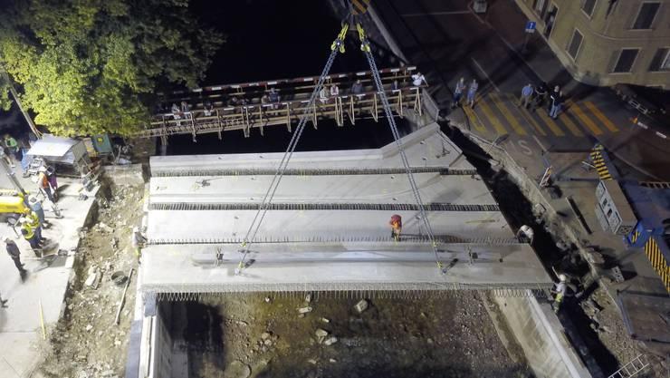 Die Firma Birchmeier Bau AG verfolgte die Bauarbeiten auch aus der Höhe. Dafür wurde eine Drohne eingesetzt.