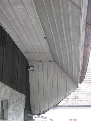Die alte Dachuntersicht