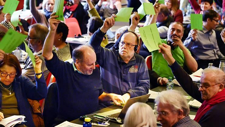 """Gegen neue Kampfjets und gegen """"ungesunden Steuerwettbewerb"""": Delegierte der Grünen am Samstag in Winterthur."""