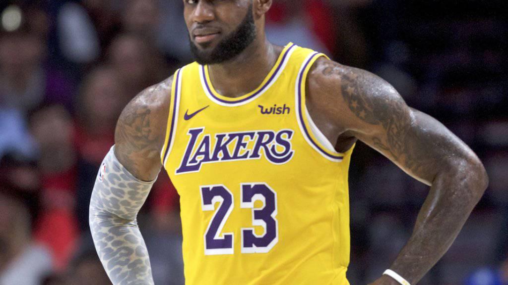 LeBron James ist im Trikot der Lakers auch im dritten Saisonspiel noch ohne Sieg