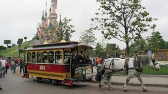 Ein Pferdetram im Eurodisneyland in Paris (Archivbild).