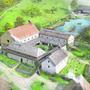 So sah das Kloster Schönthal im 12.Jahrhundert aus.