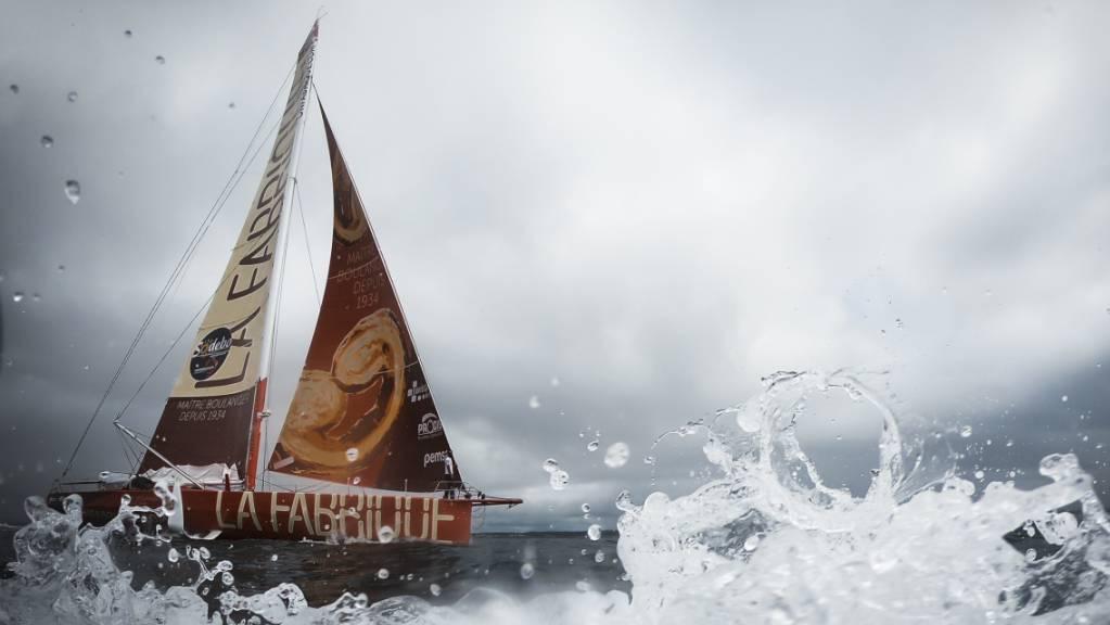 Trotz rauer See und defektem Boot: Alan Roura macht sich an der Vendée Globe auf den Heimweg.