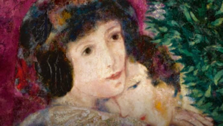 """""""Les amoureux"""" von Marc Chagall (1887-1985) ist bei Sotheby's New York für 28,5 Millionen Dollar versteigert worden - ein Rekord für diesen Maler. (Ausschnitt/zVg)"""