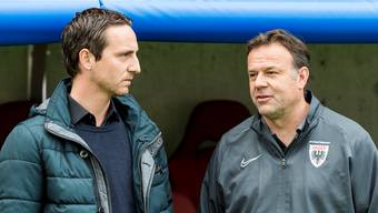 Sportchef Sandro Burki (links) und Trainer Patrick Rahmen haben bis zum Saisonstart noch viel Arbeit vor sich