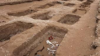 Gräber für Drogentote in Ciudad Juarez (Mexiko) (Archiv)