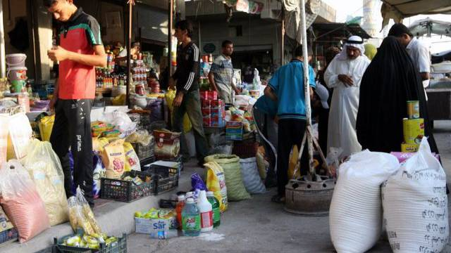 Belebter Markt in Falludscha, Irak (Symbolbild)