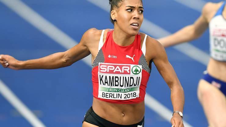 Mujinga Kambundji hält über 60 m mit 7,08 Sekunden die Jahresweltbestzeit