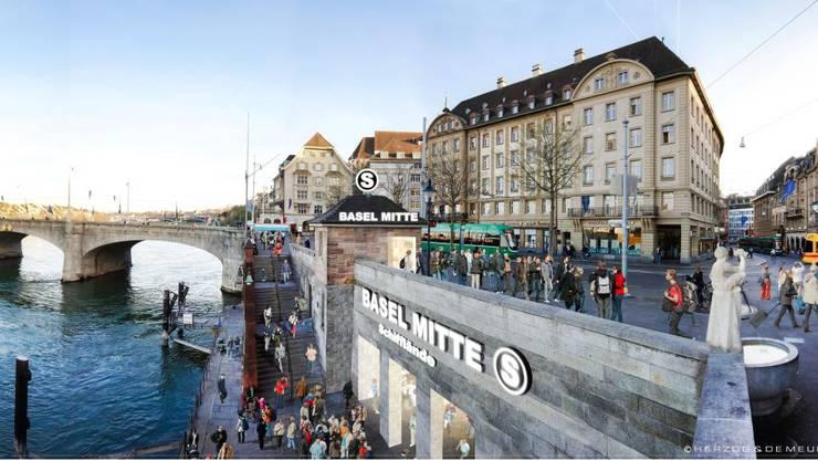 Das Basler Herzstück sieht auch Bahnhöfe in der Innenstadt vor.