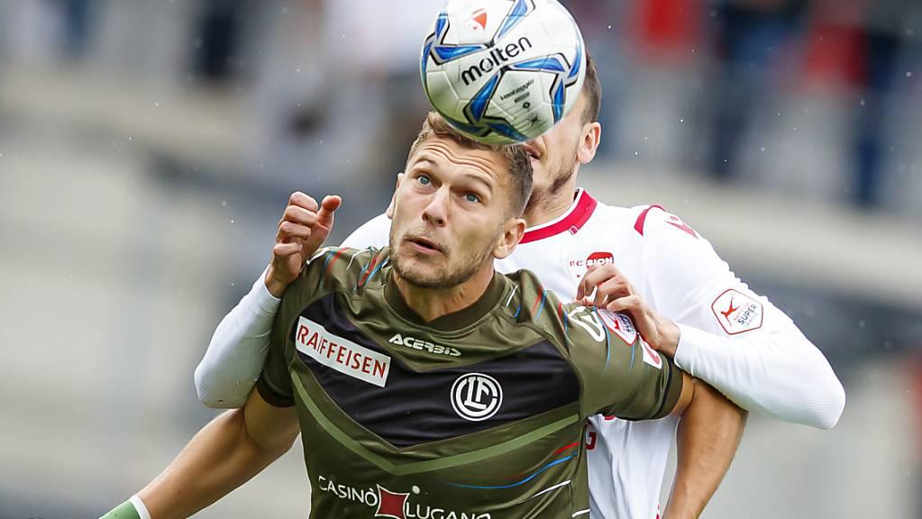 Balint Vecsei - als Doppeltorschütze Luganos Matchwinner.