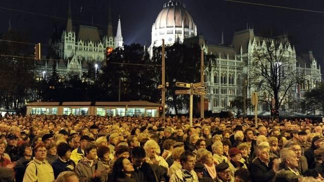 Demonstration gegen Premier Orban in Budapest